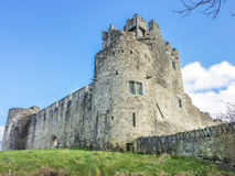 Old Ruined Castle On The Lake Royalty Free Stock Image