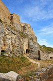 Old ruined castle in  Morella town, Spain. Royalty Free Stock Photography