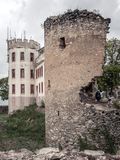 Old ruined castle stock photography
