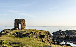 Old Ruined Castle Tower Fife. An old ruined castle tower fife Scotland. Near Elie on the fife coastal path Royalty Free Stock Photos