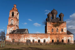 Old ruined chirch. Old ruiden and abandoned chirch Royalty Free Stock Photos