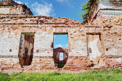 Old ruined church in the sun. Stock Photo
