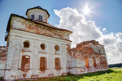 Old ruined church in the sun. Royalty Free Stock Images
