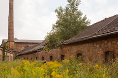 An old ruined factory building Royalty Free Stock Photos