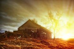 Old ruined farmhouse. Stock Image
