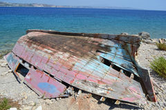 Old ruined fishing boat Royalty Free Stock Photo