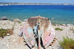 Old ruined fishing boat Royalty Free Stock Images