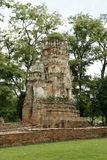 Old ruined forgotten Hindu temple in Ayutthaya Royalty Free Stock Photos