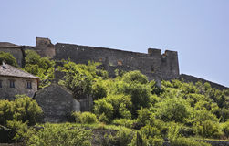 Old ruined  fortress in Pocitelj. Bosnia and Herzegovina Royalty Free Stock Image