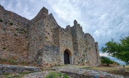 Old ruined fortresses in Greece royalty free stock photo