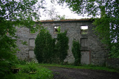 Old Ruined House. An old stone building left in ruins Stock Image