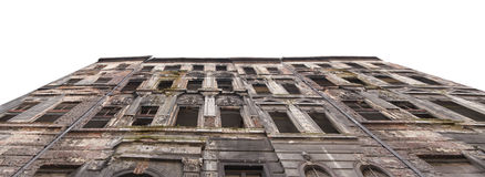 Old ruined house. Wroclaw, Poland Stock Image