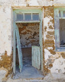 Old ruined house entrance Royalty Free Stock Photo