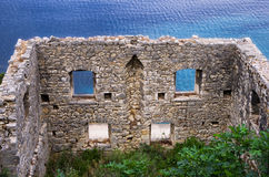 Old and ruined house in Ithaca island, Greece Royalty Free Stock Photos