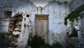 Old ruined house. In the village. Greece Stock Image