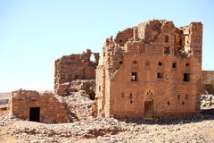 Old ruined house in Yemen Stock Photography