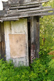Old ruined hut in a scrub Stock Photo