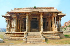 Old and ruined Indian temple, Hampi, India Stock Photos