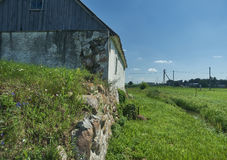 Old ruined mill on the river. Belarus Royalty Free Stock Photos
