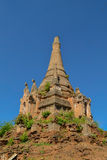 An old ruined pagoda. Indein, around Inle lake, Myanmar Stock Photos
