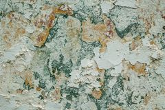 Old ruined plaster royalty free stock image
