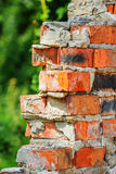 Old ruined red brick wall Royalty Free Stock Image