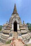 Old and ruined stately Chedi in Ayutthaya Stock Photos