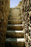 Old Ruined Steps. Leading to the top of a fort in Pafos Cyprus Stock Image