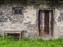 Old, ruined stone house Stock Images