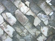 Old ruined tiled wall Royalty Free Stock Image