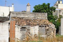 Old ruined uninhabited house Royalty Free Stock Photo