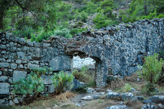 Old ruined wall with masonry Stock Image