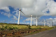 Old Ruined Windmills On Big Island, Hawaii Royalty Free Stock Image