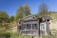 Old, ruined wooden house Royalty Free Stock Photos