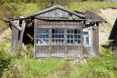 Old, ruined wooden house Stock Image