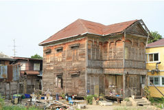 Old and ruined wooden house Stock Images
