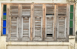 Old and ruined wooden window Royalty Free Stock Photo