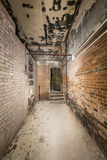 Old ruinous corridor Stock Image
