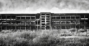 Old ruinous factory panorama Royalty Free Stock Photography