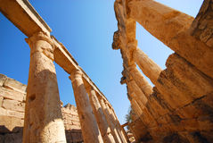 Old ruins. Ancient ruins of ancient city on a background the sky Stock Image