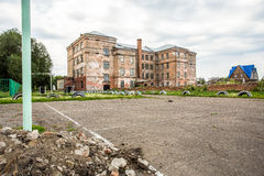 Old  ruins of abandoned school Stock Image
