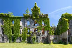 Old ruins of an abandoned small pox hospital Stock Photo