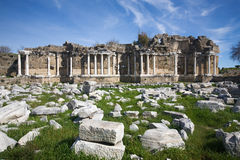 Side, ruins of library Stock Photos