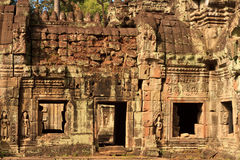 Old ruins Angkor Wat Stock Images