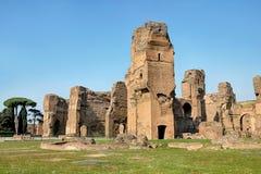 Old ruins at bath of caracalla Stock Image