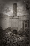 Old ruins in black and white Royalty Free Stock Photography