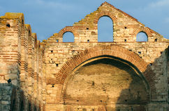 Old ruins of a byzantine church Royalty Free Stock Image