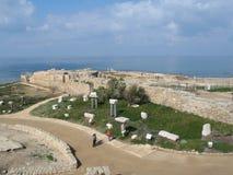 Old ruins in Caesarea Stock Images