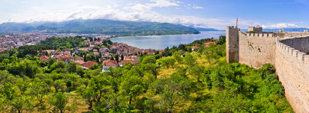 Old ruins of castle in Ohrid, Macedonia Stock Photography