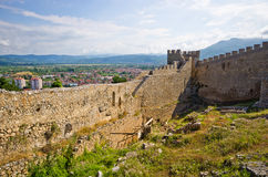 Old ruins of castle in Ohrid, Macedonia Royalty Free Stock Photography
